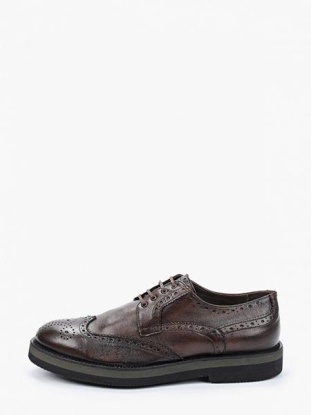 Кожаные коричневые туфли F.lli Rennella