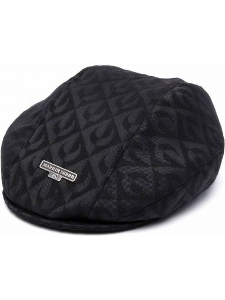 Czarna czapka wełniana Marine Serre