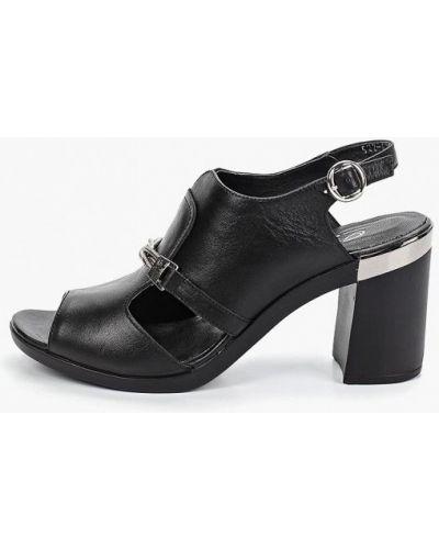 Босоножки черные на каблуке O`shade