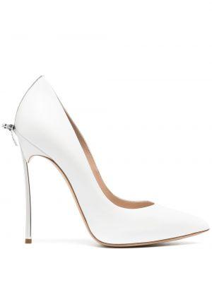 Белые туфли-лодочки на каблуке на высоком каблуке Casadei