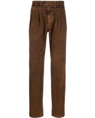 Brązowe spodnie bawełniane Lardini