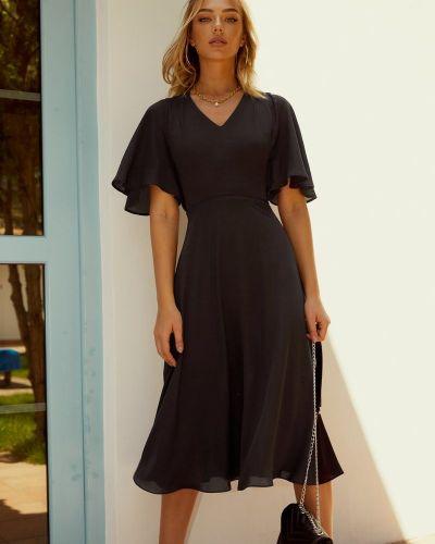 Черное платье длинное Gepur
