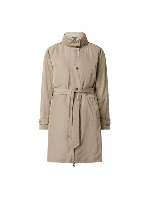 Beżowy płaszcz z kapturem zapinane na guziki Lauren Ralph Lauren