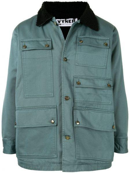 Классическая зеленая куртка на пуговицах с воротником Vyner Articles