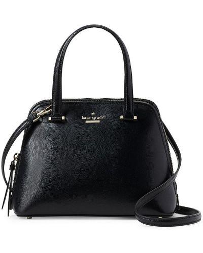 Черный кожаный ранец с карманами Kate Spade New York