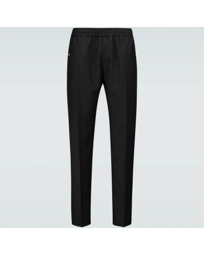 С кулиской шерстяные черные брюки Givenchy