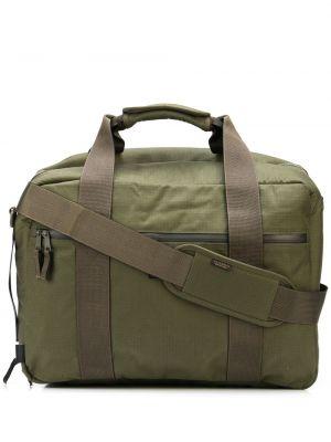 Zielona torba na ramię z nylonu Filson