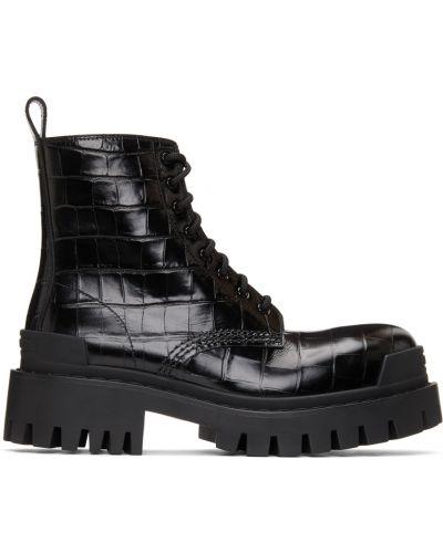Ботильоны на каблуке - черные Balenciaga