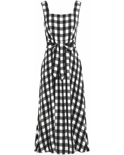 Черное платье миди с подкладкой из вискозы Temperley London