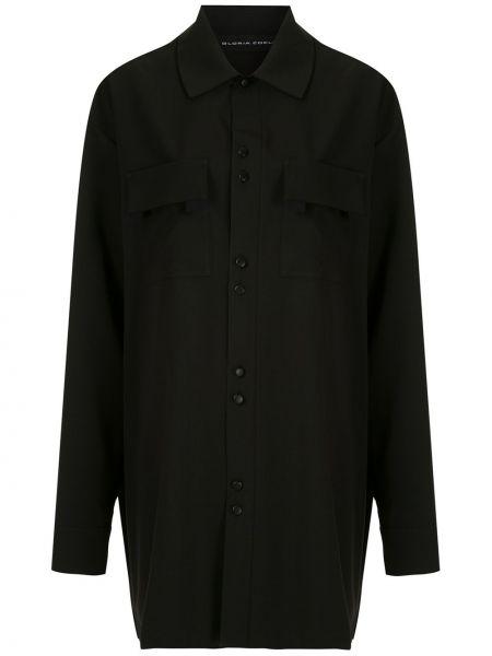 Классическая рубашка с воротником с карманами свободного кроя на пуговицах Gloria Coelho
