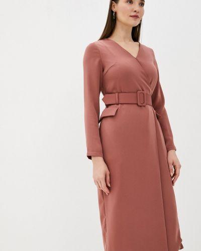 Розовое платье с запахом Zarina