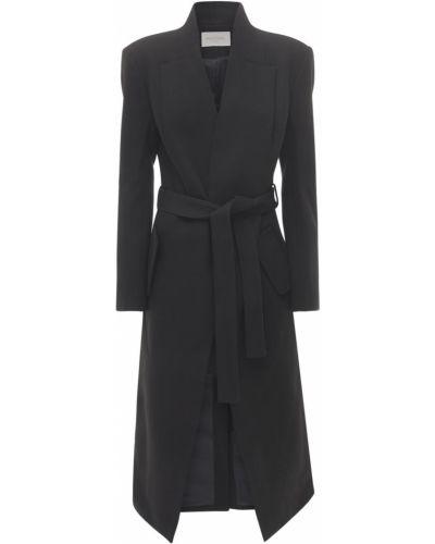 Ватное черное пальто с карманами Matériel