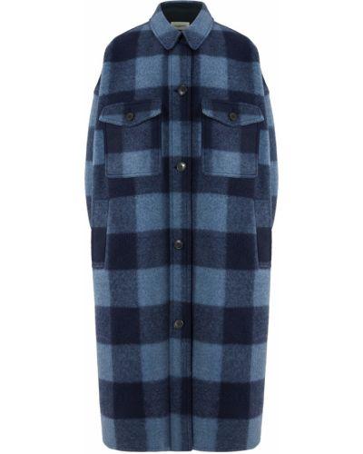 Шерстяное пальто - синее Isabel Marant Étoile