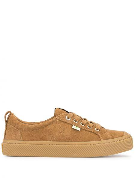 Brązowe sneakersy zamszowe Cariuma