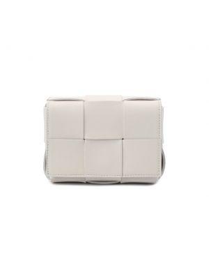Белая итальянская сумка через плечо Bottega Veneta