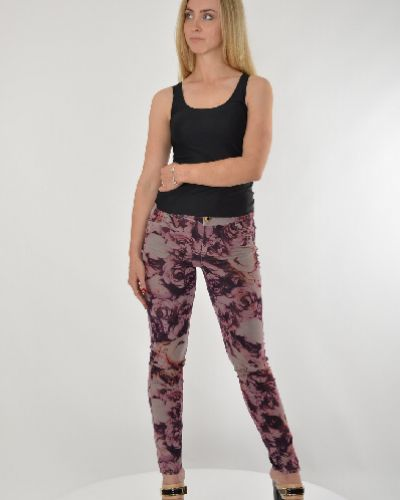 Летние брюки прямые в цветочный принт Guess