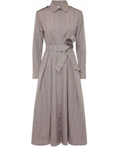 Sukienka bawełniana z paskiem Max Mara