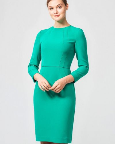 Платье осеннее зеленый Nai Lu-na By Anastasia Ivanova