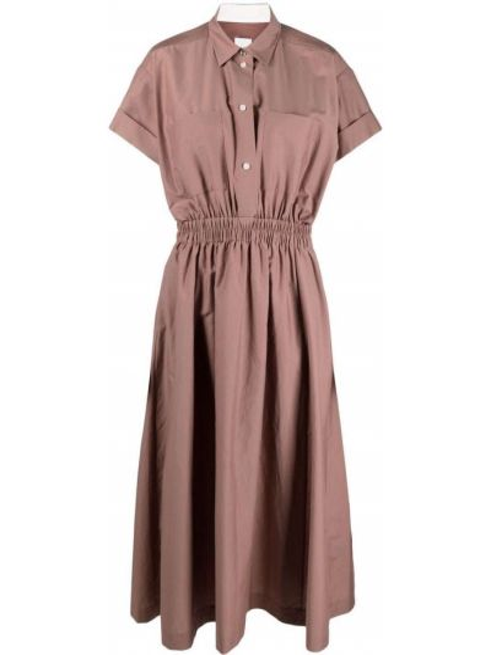 Шелковое платье миди - бежевое Paul Smith