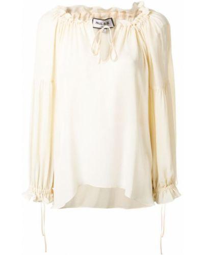 Блузка с пышными рукавами шелковая Paul & Joe