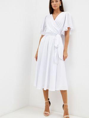 Белое платье с запахом Seam