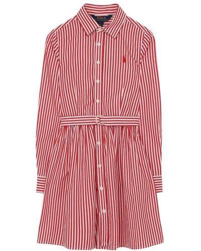 Платье макси в полоску на пуговицах Polo Ralph Lauren
