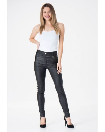 Czarne spodnie materiałowe Mir