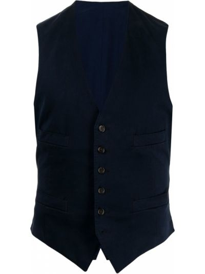 Синяя жилетка на пуговицах без рукавов Polo Ralph Lauren