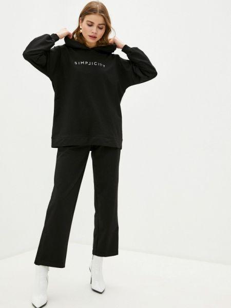 Весенний черный костюмный спортивный костюм Trendyangel