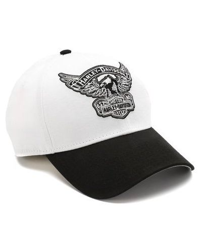 Текстильная белая бейсболка Harley Davidson
