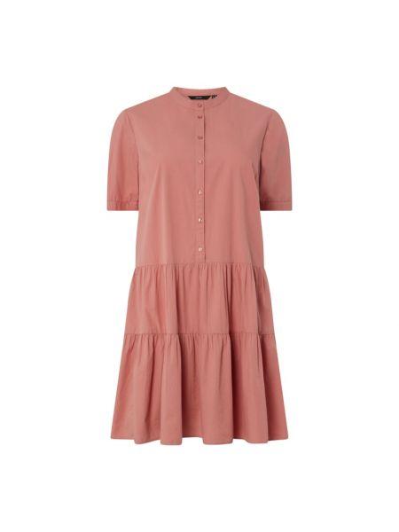 Różowa sukienka mini rozkloszowana krótki rękaw Vero Moda Curve