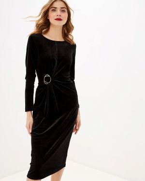 Вечернее платье осеннее черное Sela