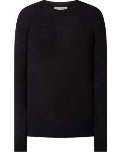 Sweter bawełniany - czarny Tom Tailor Denim