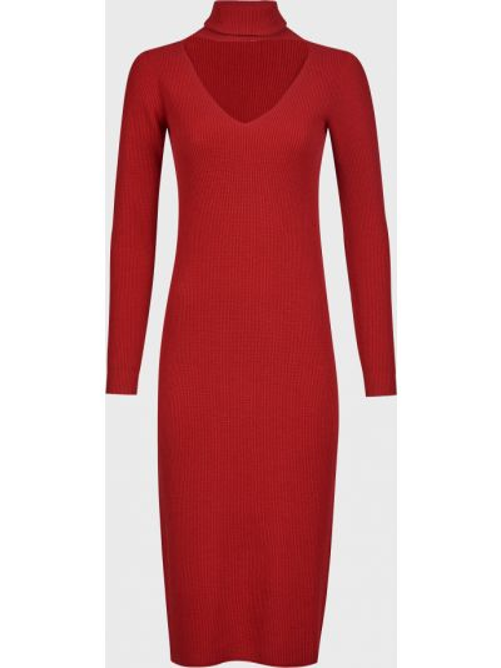 Красное платье из вискозы Kontatto