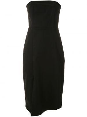 Хлопковое платье миди - черное Eva