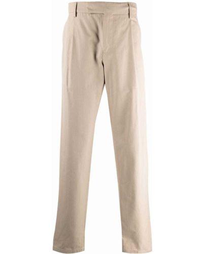 Beżowe spodnie z paskiem Dunhill