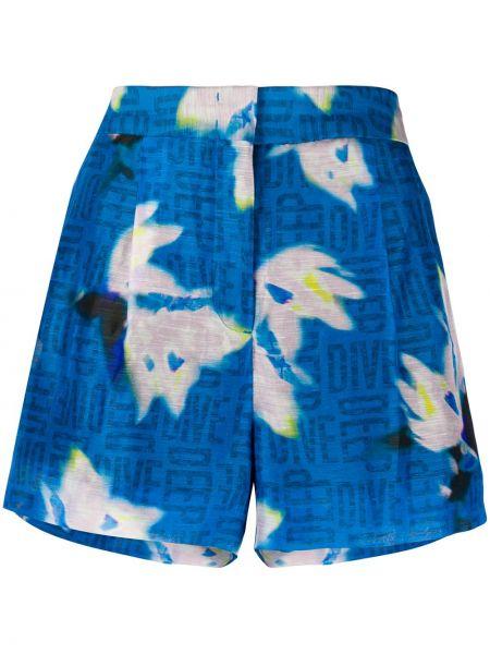 Синие шелковые шорты с поясом Dorothee Schumacher