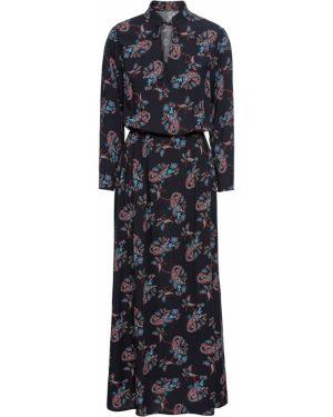 Платье миди на резинке с вырезом Bonprix