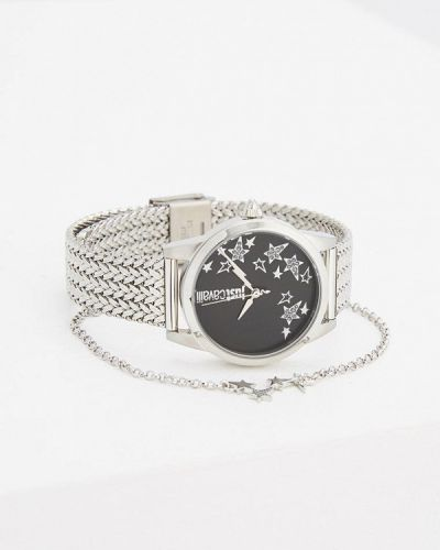 Кварцевые часы серебряного цвета Just Cavalli