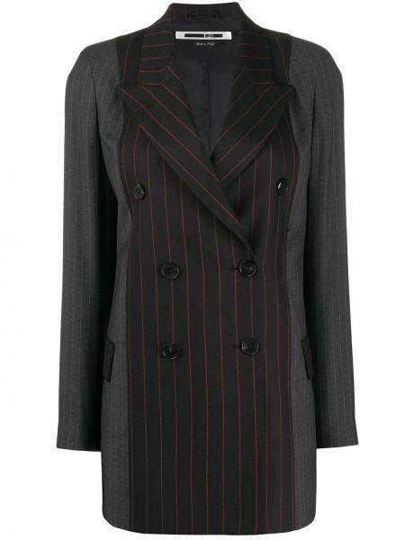 Классический пиджак в полоску двубортный Mcq Alexander Mcqueen