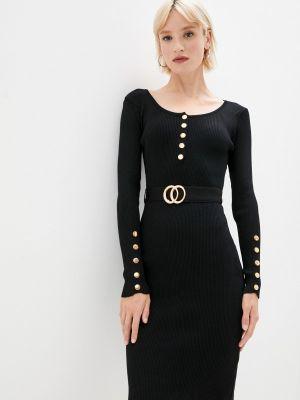 Черное зимнее платье Fadas