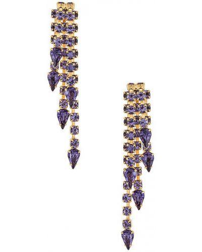 Серьги-гвоздики золотые позолоченные Elizabeth Cole
