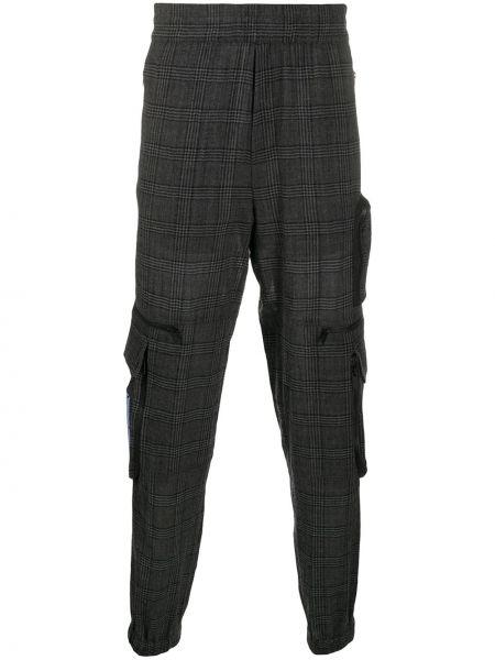 Spodni wełniany bawełna bojówki z kieszeniami Mcq Alexander Mcqueen