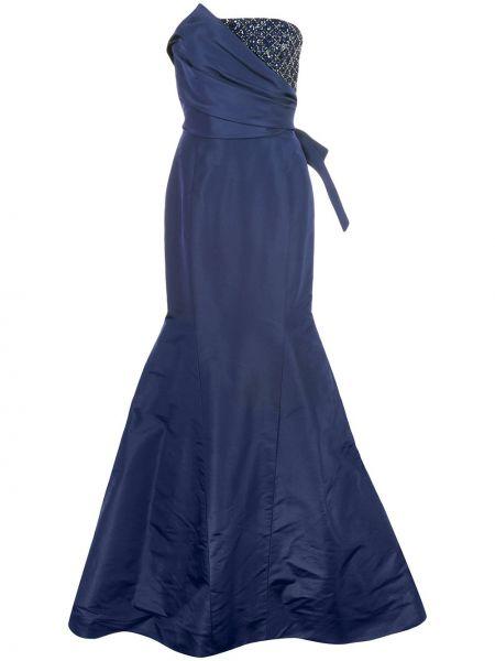 Платье на молнии с драпировкой Carolina Herrera