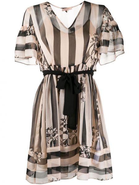 Платье мини макси в полоску Twin-set