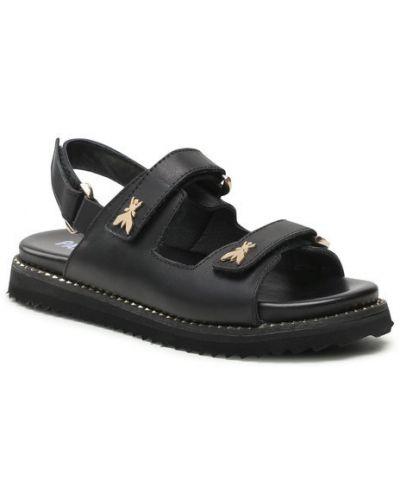 Czarne sandały Patrizia Pepe