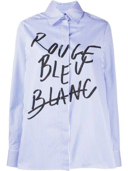 Niebieska koszula bawełniana z długimi rękawami Etre Cecile