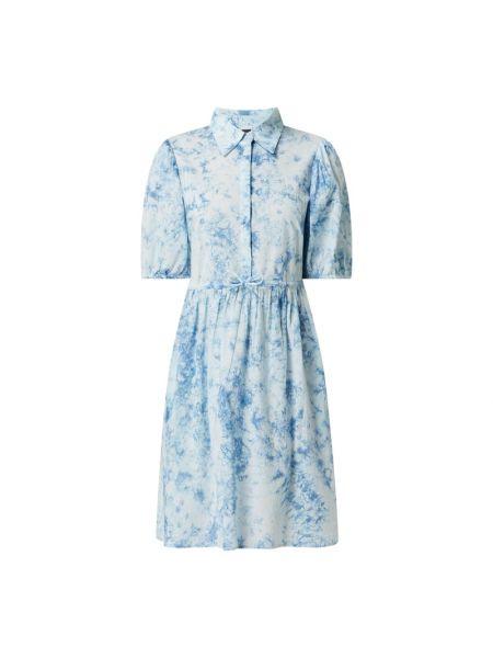 Niebieska sukienka mini rozkloszowana bawełniana Y.a.s