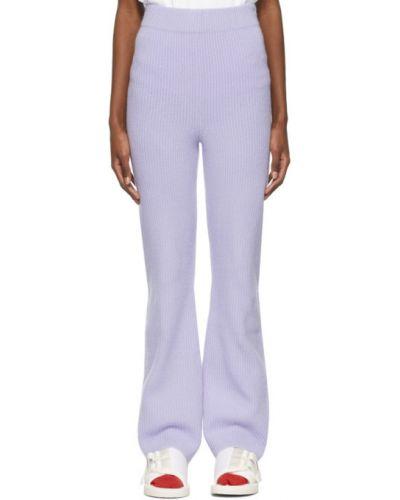 Кашемировые расклешенные фиолетовые брюки The Elder Statesman