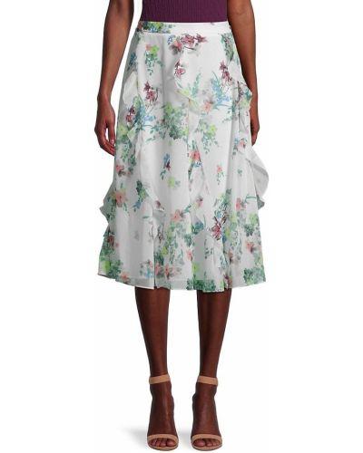 Бежевая юбка макси с подкладкой в цветочный принт Ted Baker London